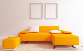 Orange Sofa Bed by Vibrant Orange Sofa Design For Extraordinary Living Room Color
