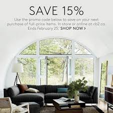 home design and decor shopping promo code cb2canada is having a 15 off promo more details in today s blog