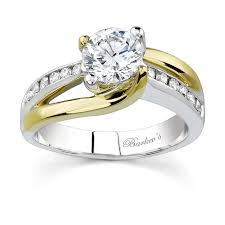 two engagement ring barkev s two tone engagement ring 6990ly