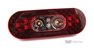 grote led trailer lights grote 54682 2 in1 led stop tail turn back up light waytek