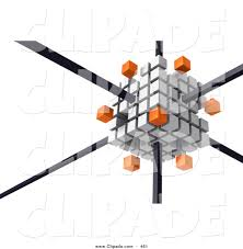 oranges clipart black and white clip art of a white cube consisting of smaller white and orange