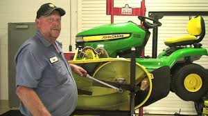 don u0027t know ask joe replacing belt on a x300 john deere lawn