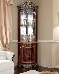 curio cabinet classic style corner displaynet made in italy