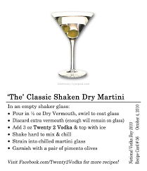 martini dry vermouth the u0027 classic shaken dry martini twenty 2 vodka america u0027s most