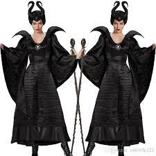 Woman Black Halloween Costume Sleeping Curse Costumes Adlut Maleficent Cosplay Halloween