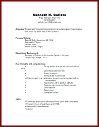 Resume With No Work Experience Template Sample Resume For Working Students With No Work Experience Sample
