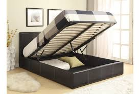 Ottoman Bed Black Richmond Grey Fabric Ottoman Storage Bed King