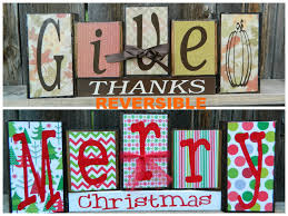 reversible christmas and thanksgiving wood by buzzingbeescrafts