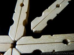 clothespin snowflakes handmade ornament no 25 bystephanielynn
