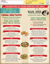 Chinese Buffet Hours by China Inn Restaurant Menu Hours U0026 Prices 13a 8056 Yonge St