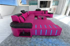 what colors go good with pink xxl sectional sofa bellagio led u shaped pink black ebay idolza