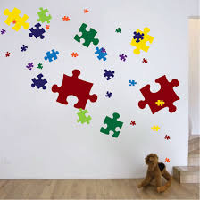 puzzle piece wall decals puzzle piece wall mural puzzle piece zoom