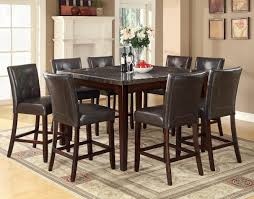 dining room counter height tables 103777 coaster counter height table marble top dining set