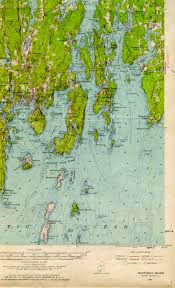 Map Of New England Coast by Boothbay Me Quadrangle