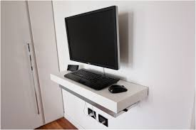 Wall Mount Laptop Desk by Mini Pc Float And Slide Desk Ikea Hackers Ikea Hackers