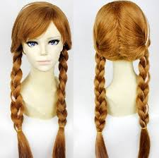 anna from frozen hairstyle cheap synthetic hair wigs frozen princess anna wig 70cm length