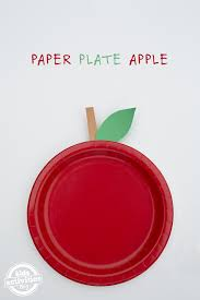 Easy Paper Craft For Kids - easy paper plate apple craft