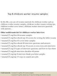 Child Care Job Resume Child Care Worker Resume Description Job Resume Samples Tag