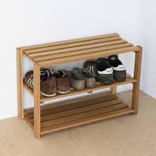Entryway Shoe Storage 3 Tier Unfinished Wood Shoe Rack Suitable Placed On Entryway Your