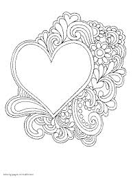 printable coloring pages flowers printable hearts coloring pages coloring pages of hearts free