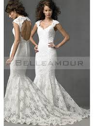 robe de mariã e dentelle dos robe de mariée sirène dos nu mancheron col en v dentelle longue