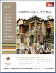 microsoft real estate flyer templates free ms word real estate