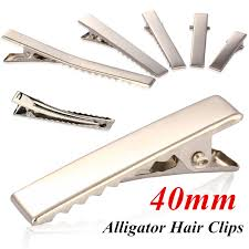 alligator hair 100pcs lot metal plain prong hair alligator clip pinch hair