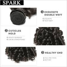 Double Weft Hair Extensions by Brazilian Bouncy Curly Hair Bundles Natural Color Human Hair