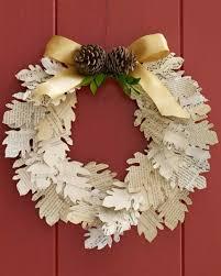 paper leaf wreath martha stewart
