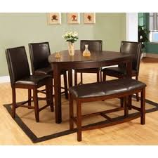 best quality furniture 6 piece weathered oak counter height dining