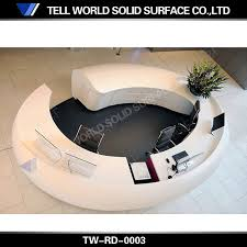 office reception desk for sale artificial marble small round reception desk buy round reception