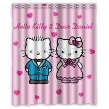 buy charming kitty shower curtain pop style cheap price