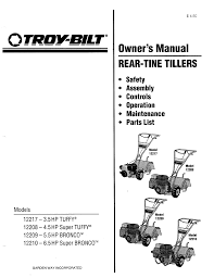 troy bilt tiller 12217 3 5hp user guide manualsonline com