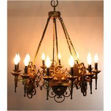 Gold Leaf Chandelier Giant Vintage Gothic Greek Revival Gold Leaf Chandelier With