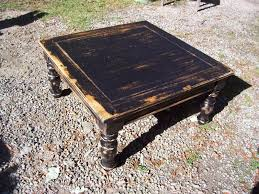 nfs black very distressed coffee table touch of grace
