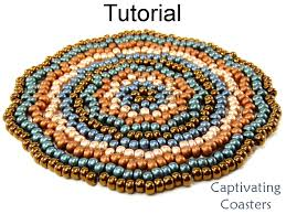 beading tutorial pattern coasters home decor gifts simple bead