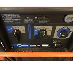 miller bobcat 250 ac dc welder 11000 watt generator with cart