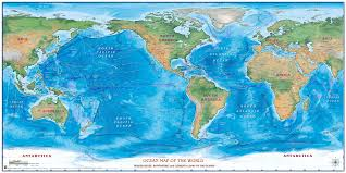 Wall Maps Of The World by World Ocean Zoom