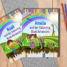 personalised childrens colouring book adventure by my magic name