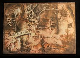 Map Of The Carribean Pirates Of The Caribbean Treasure Map Sea Tales Pinterest