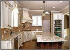 Kitchen Cabinet Paint Color Image Of Cream Colored Distressed Kitchen Cabinets Decorating