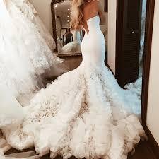 mermaid wedding dresses sweetheart bodice corset satin mermaid wedding dresses