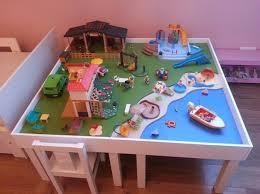 jeux de rangement de la chambre une table de jeu playmobil avec lack jeux playmobil table de jeux