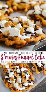 easy smores funnel cake recipe so graham crackers and summer