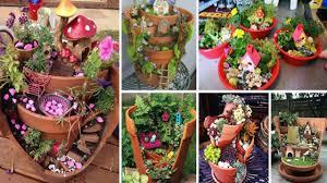 diy broken pot fairy garden ideas youtube