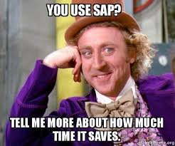 Sap Memes - you use sap tell me more about how much time it saves willy
