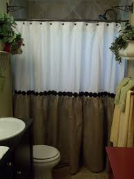 Fringe Home Decor by Burlap Shower Curtain Fringe Burlap Shower Curtain Was Show The