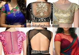 pattern of net blouse trendy net pattern blouses for designer sarees south india fashion