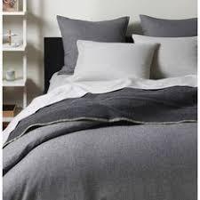 Duvet Covers Gray Spencer Stripe Flannel Duvet Cover U0026 Shams Menswear Pinstripes