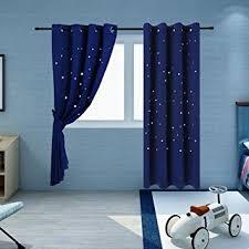royal blue bedroom curtains amazon com twinkle star kids room curtains 2 panels buzio